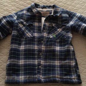 Youth boys medium 12 flannel hunting jacket